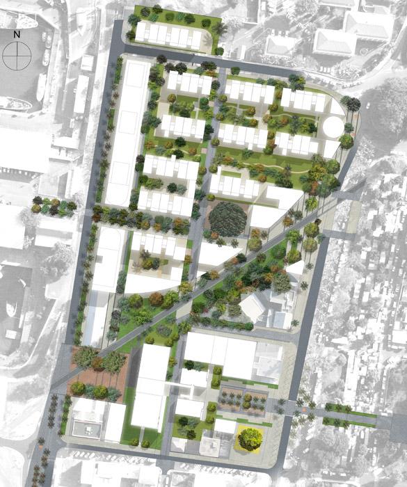 Projet etude de d finition du quartier mairie au for Architecte urbaniste definition